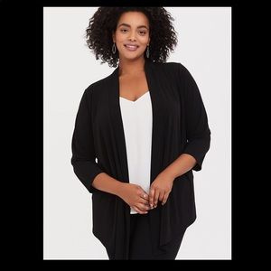 Torrid Black Studio Fit Stretch Cardigan